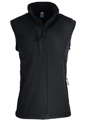 MENS OLYMPUS S/SHELL VEST BLACK S