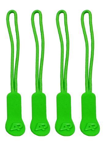 ZIP PULLER PACK OF 4 GREEN