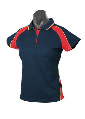LADY PANORAMA POLO NAVY/RED/GOLD 8