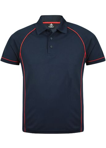 MENS ENDEAVOUR POLO NAVY/RED S