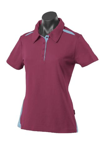 ** LADY PATERSON POLO MAROON/SKY 8