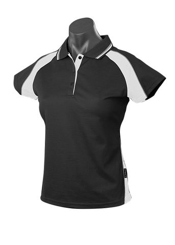 ** LADY PANORAMA POLO BLACK/WHITE/ASHE 8