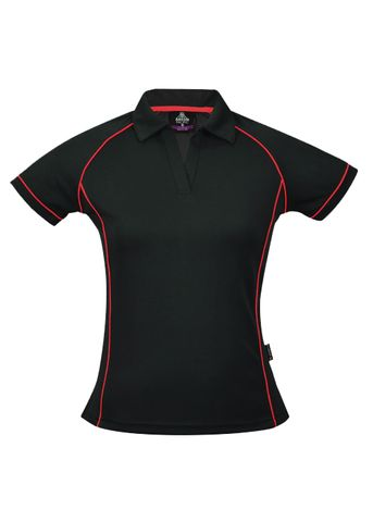 LADY ENDEAVOUR POLO BLACK/RED 8