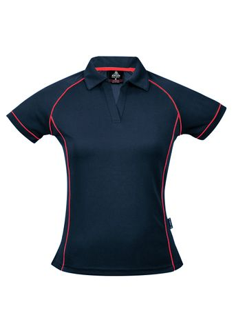 LADY ENDEAVOUR POLO NAVY/RED 8