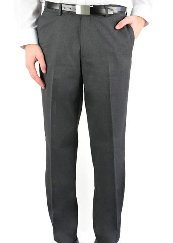 MENS FLAT FRONT PANT CHARCOAL 87