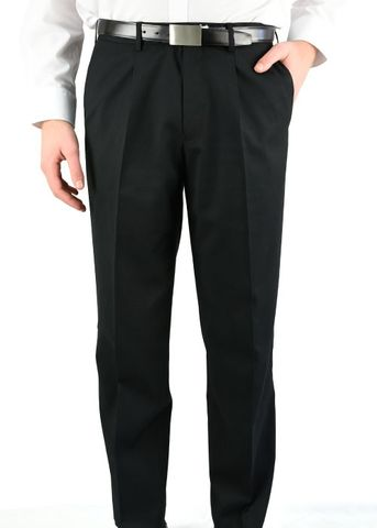 MENS PLEATED FRONT PANT BLACK 87