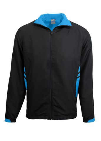 MENS TASMAN TRACK TOP BLACK/CYAN S