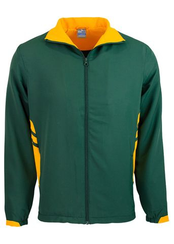 MENS TASMAN TRACK TOP BOTTLE/GOLD S