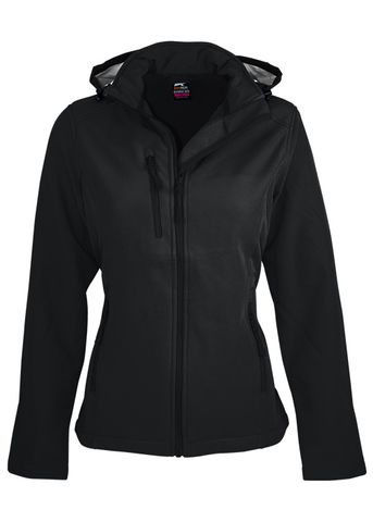 LADY OLYMPUS S/SHELL JKT BLACK 10