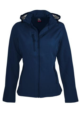 LADY OLYMPUS S/SHELL JKT NAVY 10