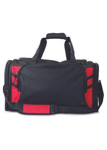 TASMAN SPORTS BAG BLACK/RED