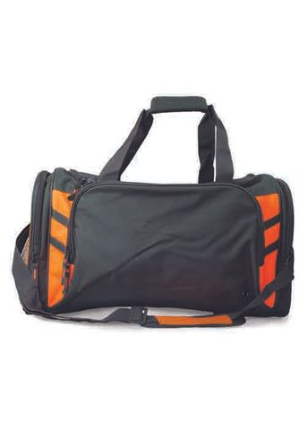 TASMAN SPORTS BAG SLATE/NEON ORANGE