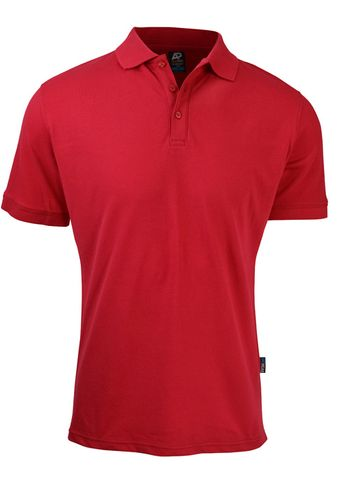 MENS CLAREMONT POLO RED S