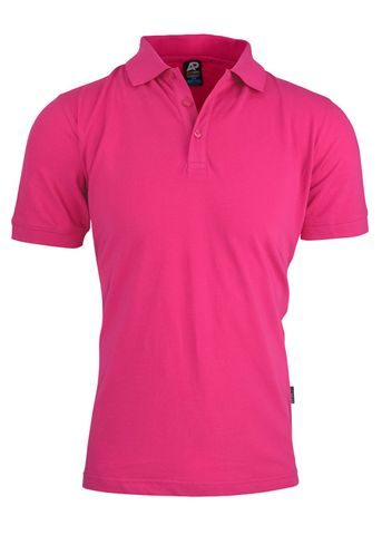 MENS CLAREMONT POLO PINK S