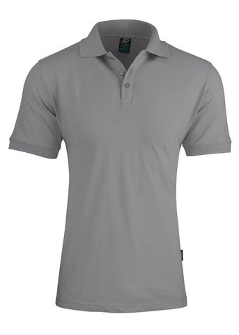 MENS CLAREMONT POLO SILVER S