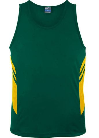 MENS TASMAN SINGLET BOTTLE/GOLD S