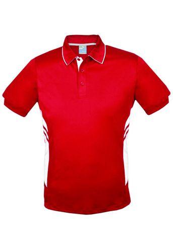 MENS TASMAN POLO RED/WHITE S