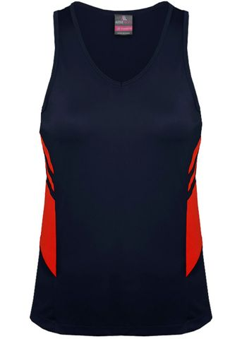 LADY TASMAN SINGLET NAVY/RED 8