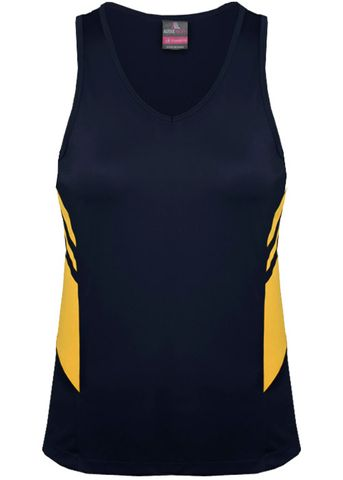 LADY TASMAN SINGLET NAVY/GOLD 8
