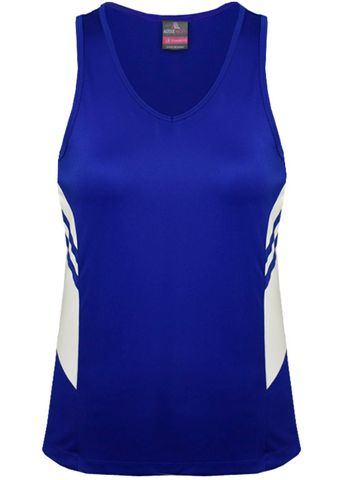 LADY TASMAN SINGLET ROYAL/WHITE 8
