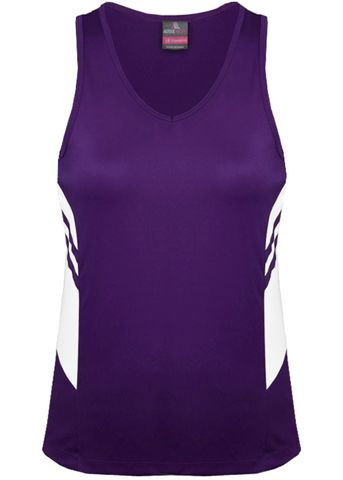 LADY TASMAN SINGLET PURPLE/WHITE 8