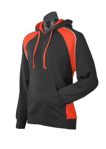 MENS HUXLEY HOOD BLACK/ORANGE/WHITE XS