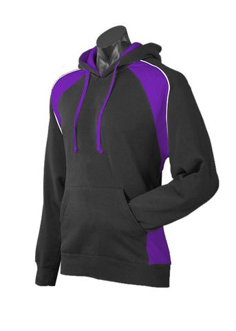 MENS HUXLEY HOOD BLACK/PURPLE/WHITE XS
