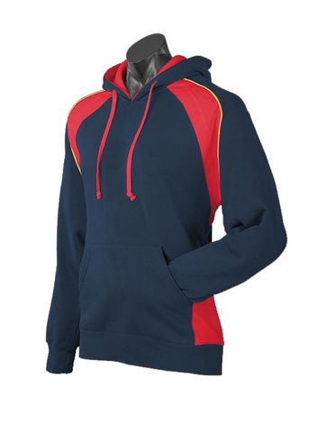 MENS HUXLEY HOOD NAVY/RED/GOLD XS