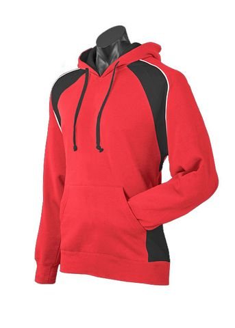MENS HUXLEY HOOD RED/BLACK/WHITE XS