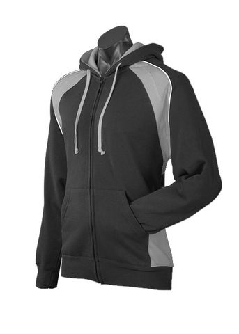 MENS PANORAMA ZIP HOOD BLACK/ASHE/WHITE S