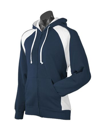 MENS PANORAMA ZIP HOOD NAVY/WHITE/ASHE S