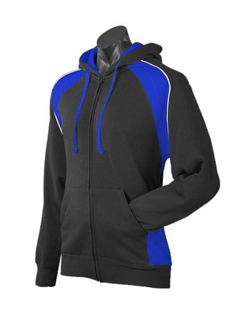 MENS PANORAMA ZIP HOOD BLACK/ROYAL/WHITE S