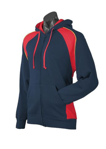 MENS PANORAMA ZIP HOOD NAVY/RED/GOLD S