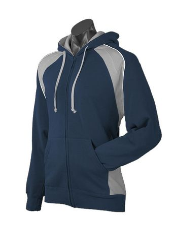 MENS PANORAMA ZIP HOOD NAVY/ASH/WHITE S