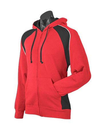 MENS PANORAMA ZIP HOOD RED/BLACK/WHITE S