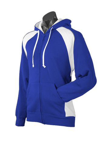 MENS PANORAMA ZIP HOOD ROYAL/WHITE/ASHE S