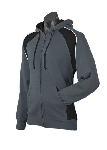 MENS PANORAMA ZIP HOOD SLATE/BLACK/WHITE S