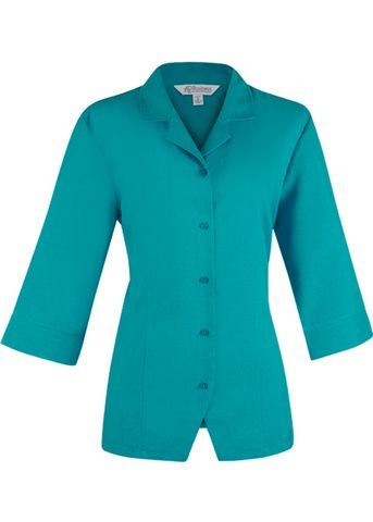 ** LADY SPRINGFIELD 3/4 SLEEVE TEAL 8