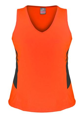 LADY TASMAN SINGLET NEON ORANGE/SLATE 8