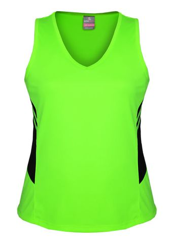 LADY TASMAN SINGLET NEON GREEN/BLACK 8