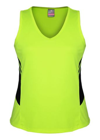 LADY TASMAN SINGLET NEON YELLOW/BLACK 8