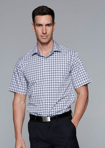 DEVONPORT MENS SHIRT SHORT SLEEVE - N1908S