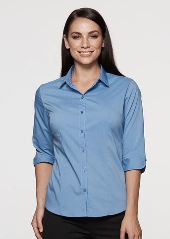 MOSMAN LADY SHIRT 3/4 SLEEVE - N2903T