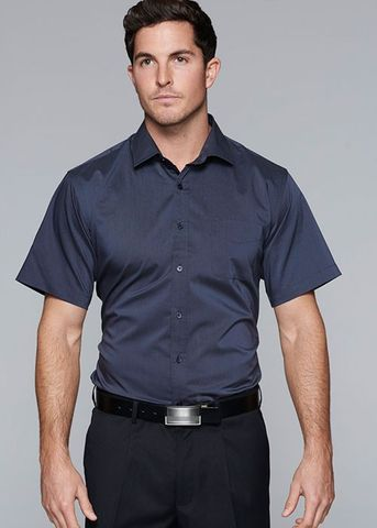 MOSMAN MENS SHIRT SHORT SLEEVE - N1903S