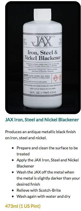 JAX Iron, Steel and Nickel Blackener