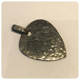 A hammered finish 925 guitar pick