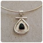 Qld Boulder Opal and Sterling Silver Pendant