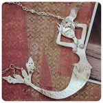 Reclining Mermaid Necklace