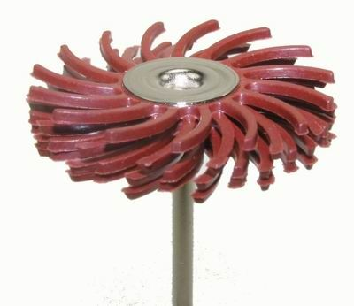 Habras Mounted Bristle Discs - Standard Red