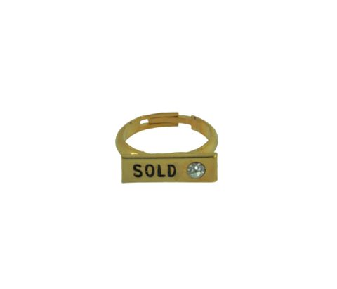 Display 'SOLD' Ring - Gold or Silver
